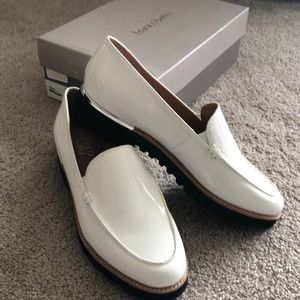 Franco Sarto white patent leather shoes size 8 1/2